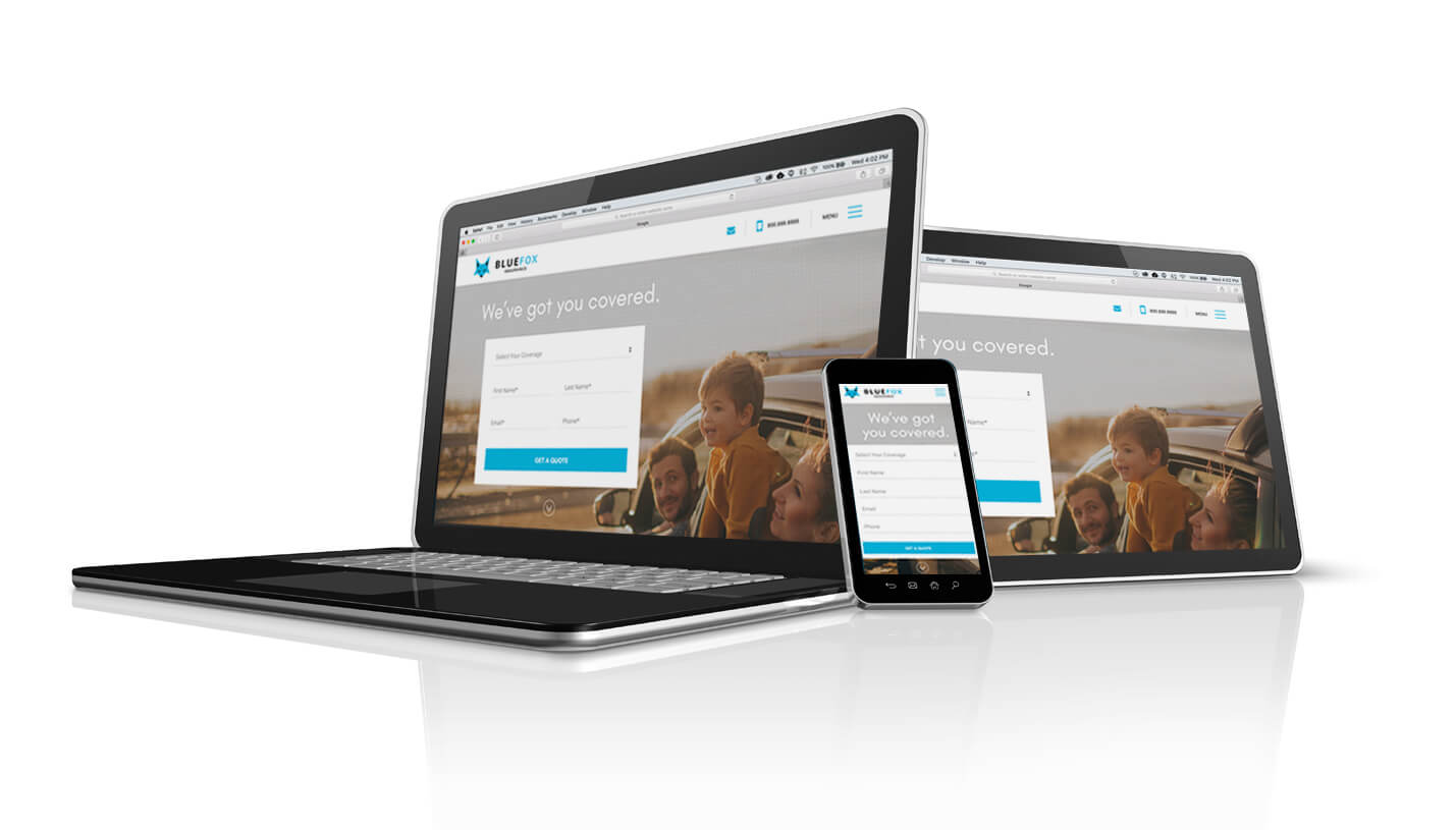 Devices Showcasing Responsive Web Design